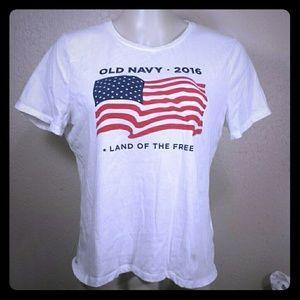 Old Navy Flag T Shirt, XL